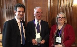 Geoff Pegg and Karen Holdsworth-Cannon with Steve Baker MP