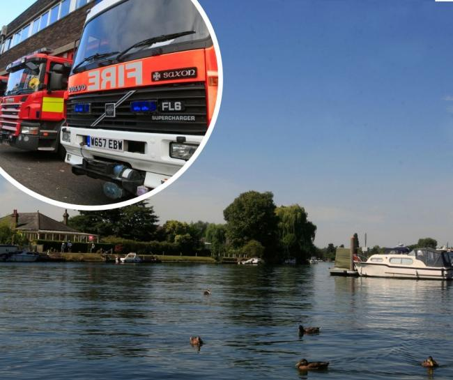 Police helicopter scrambled and emergency services descend on Bourne End after car goes into River Thames