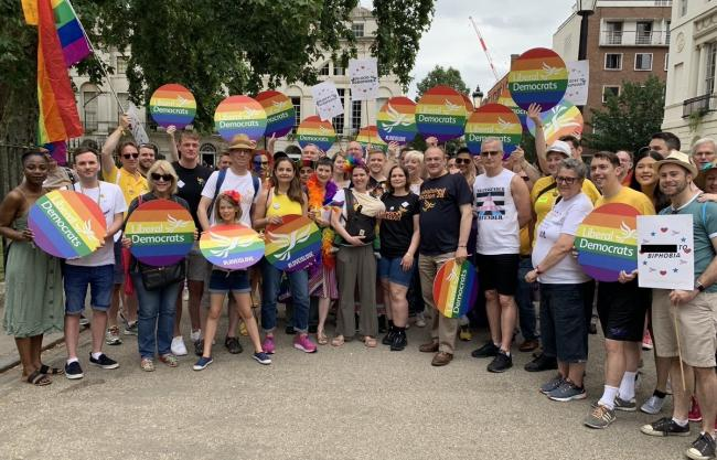 The Lib Dems at London Pride
