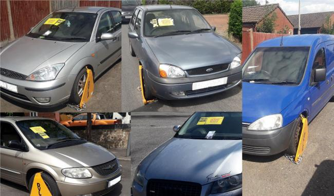 Clamped vehicles (photo: @tvp_ChiltSBucks)
