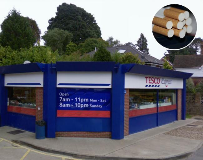 The Tesco Express store