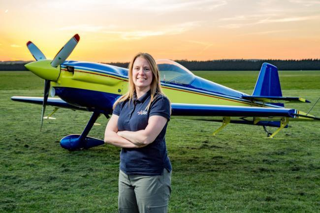 Pilot Emily Collett who died in a plane crash in Oxfordshire on August 24, 2019. Picture from British Aerobatics Association given to sister paper the Oxford Mail