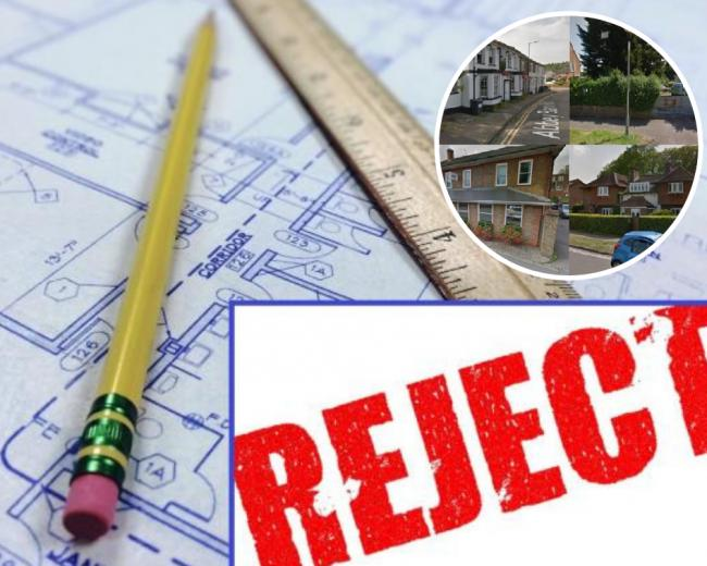 5 houses and building projects REFUSED planning permission in Wycombe
