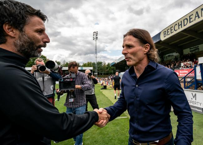 Ainsworth with Danny Cowley. Photo by Liam McAvoy.