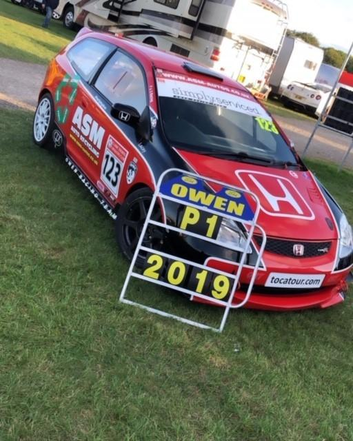 AJ Owen was crowned the pre 2003 Touring Car Champion after a double podium during the final round of the season at Cadwell Park in Lincolnshire.