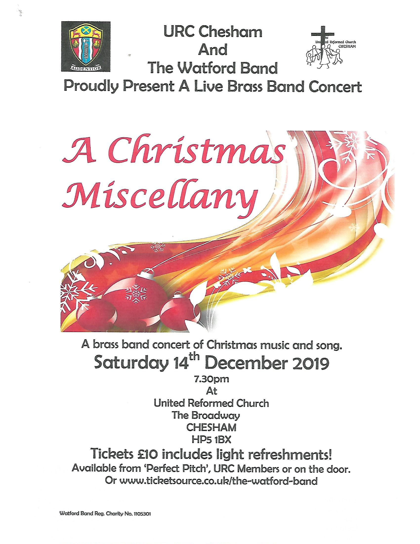 'A Christmas Miscellany' Brass Band Concert