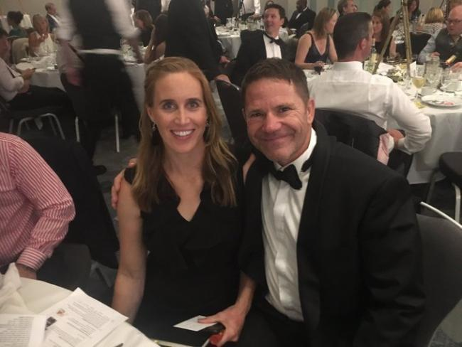 Steve Backshall with his wife, Helen Glover