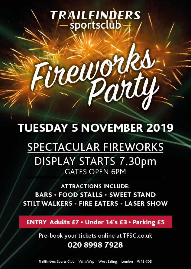 Trailfinders Sports Club Fireworks Party