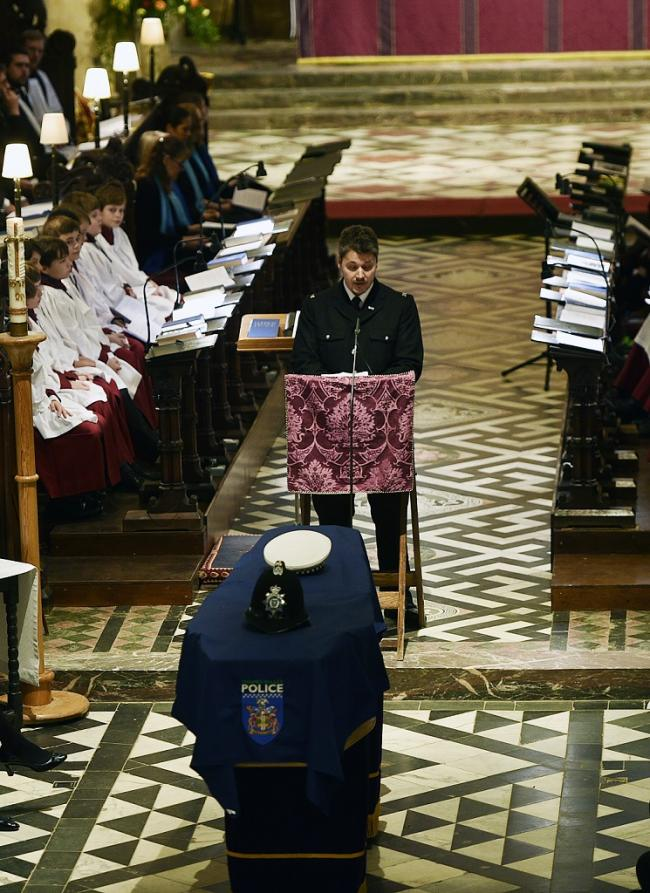 PC who worked with Andrew Harper in Amersham reads emotional tribute at funeral