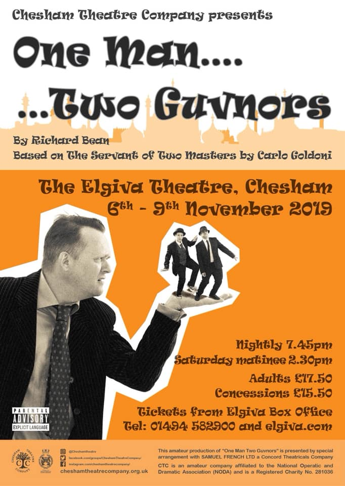 One Man Two Guvnors - presented by Chesham Theatre Company