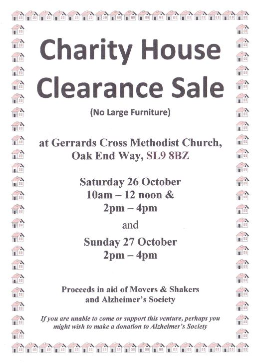 Charity House Clearance Sale