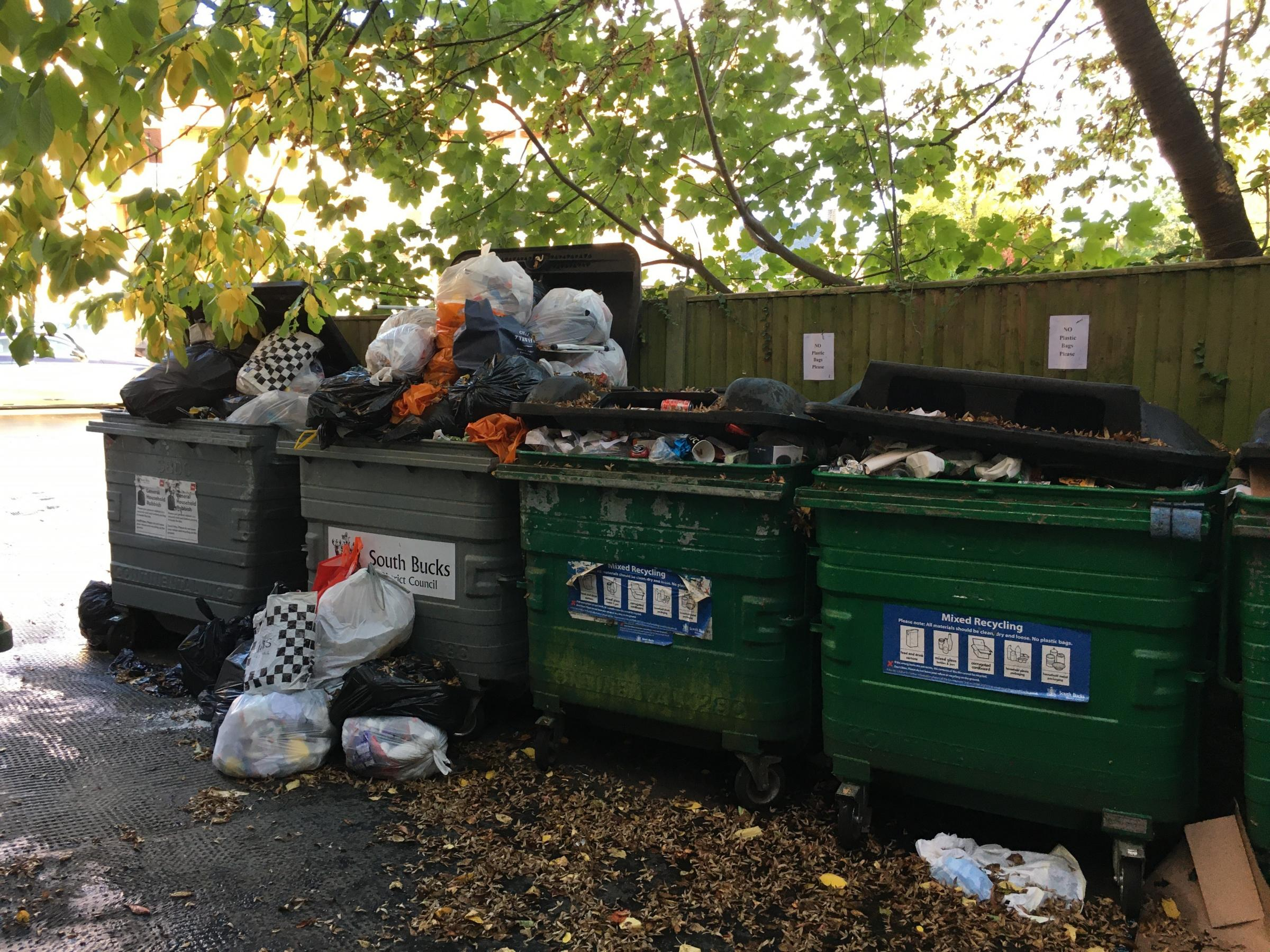 Beaconsfield resident hits out at overflowing waste in communal bins - Bucks Free Press