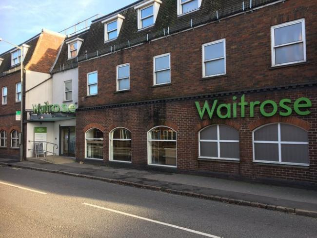 The Waitrose closed on October 27