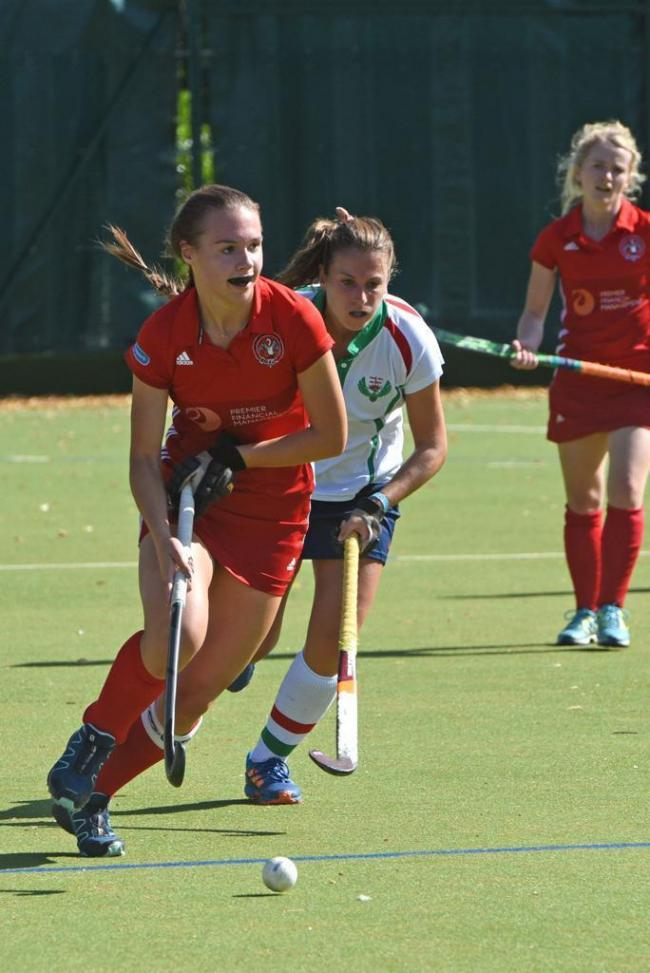 Jemima Coltman was the star on show with a hat-trick as Marlow won 4-2 at Guildford in Division One of the South Clubs Hockey League on Saturday.