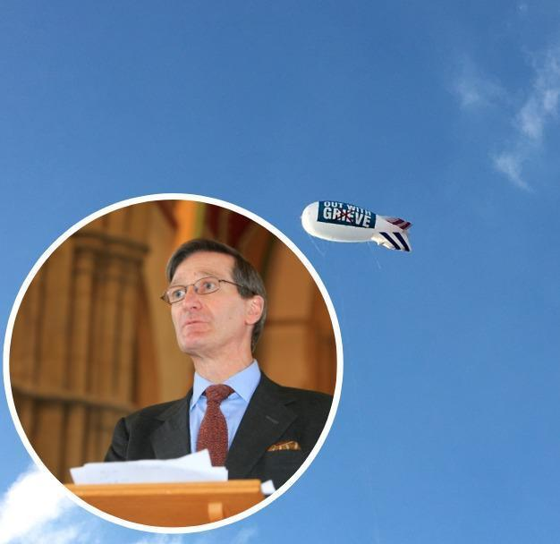 Dominic Grieve is untroubled by the blimp