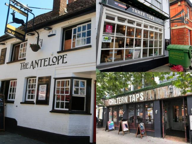 The Antelope, The Three Tuns and Chiltern Taps