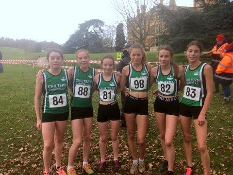 The Chiltern Harries gold medal-winning Under 15s girls' team at the Buckinghamshire Championships.