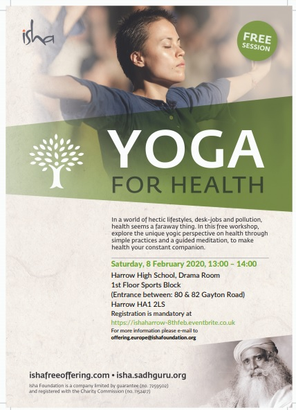 Yoga For Health - Free session at Harrow