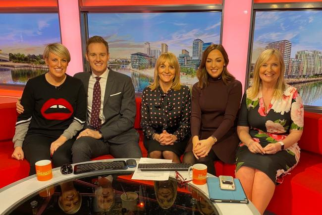 Steph McGovern with her BBC Breakfast colleagues