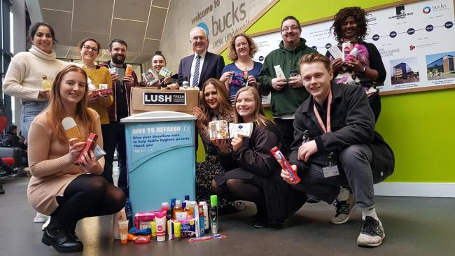 The University, in Queen Alexandra Road, High Wycombe, is the first university community in London and the south – and only the second in the UK – to set up a public donation point so that local residents and businesses can also get involved