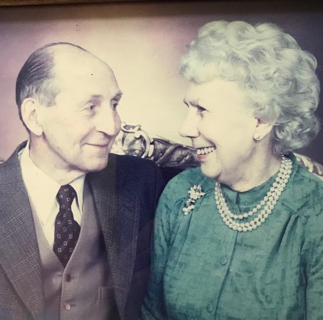 Marjorie Priest with her late husband, Maurice