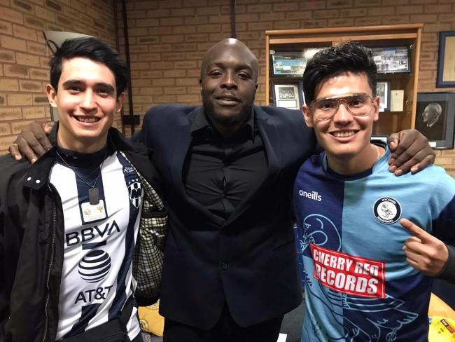 Francisco Frenzel, Adebayo Akinfenwa and Frenzel Gamez