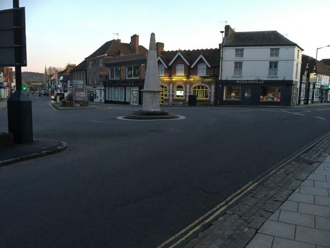 The centre roundabout in Marlow