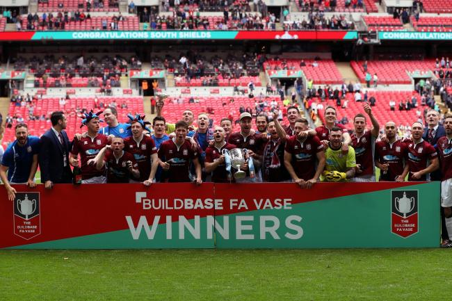 South Shields celebrate winning the FA Vase in 2017