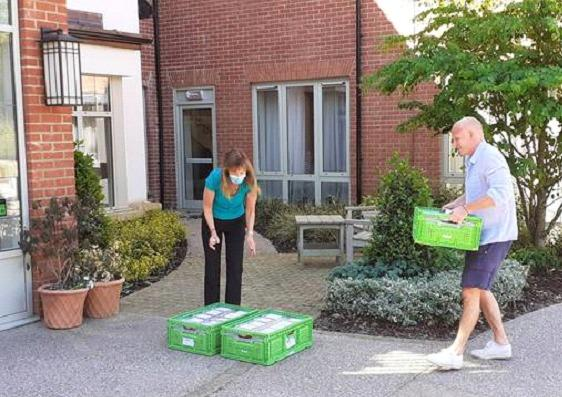 The food being delivered to the Cliveden Care Home