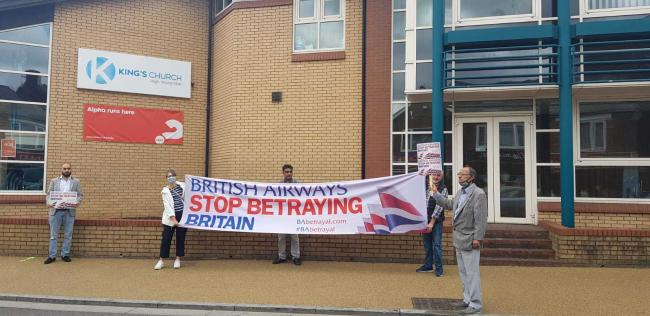 BA workers and supporters held a protest in High Wycombe