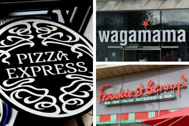 Wagamama, Frankie & Benny's and Pizza Express release update on reopening plans. Picture: Newsquest