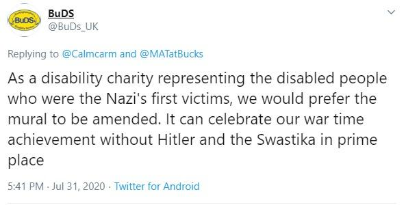 Buckinghamshire Council Leader In Twitter Row Over Wwii Mural Depicting Hitler And Swastika Bucks Free Press