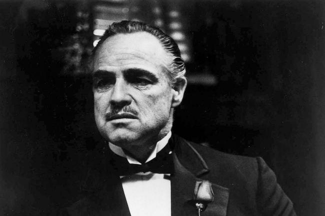 Marlon Brando as Vito Corleone in the film The Godfather