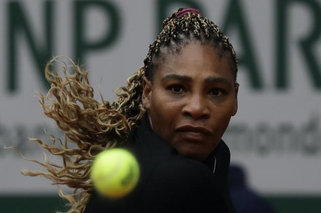Serena Williams was unhappy with her first-set performance against Kristie Ahn