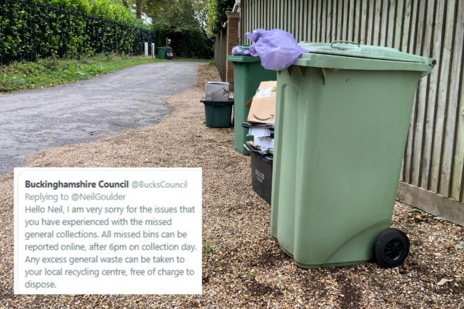 Buckinghamshire Council branded 'out of control' after weeks of failed bin collections and 'DIY' tweet