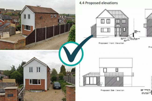 Chalfont St Giles - 'out of keeping' property with long planning history granted extension