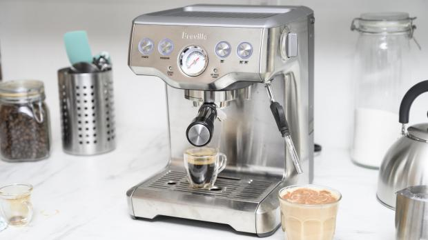Bucks Free Press: If you're trying to kick your Costa habit, you may benefit from an espresso machine. Credit: Reviewed / Betsey Goldwasser