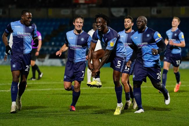 Anthony Stewart celebrating Wycombe's equaliser  (Andy Rowland/Prime Media)