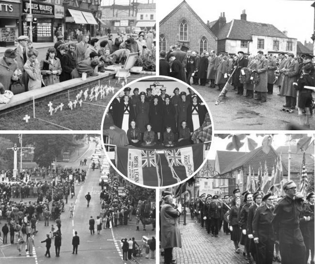 Remembrance services from years gone by