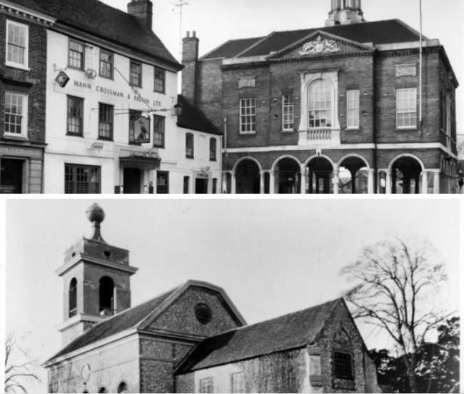 Some of High Wycombe's most famous landmarks - and what they look like today