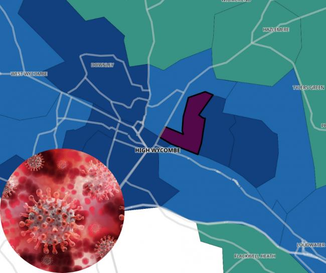 Coronavirus in High Wycombe - Which area has had the fewest infections?