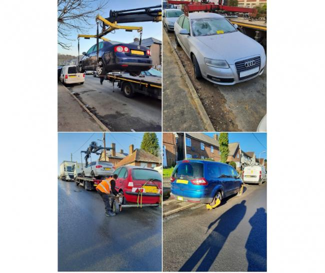 Vehicles seized, fines issued and clamps put on cars in crackdown