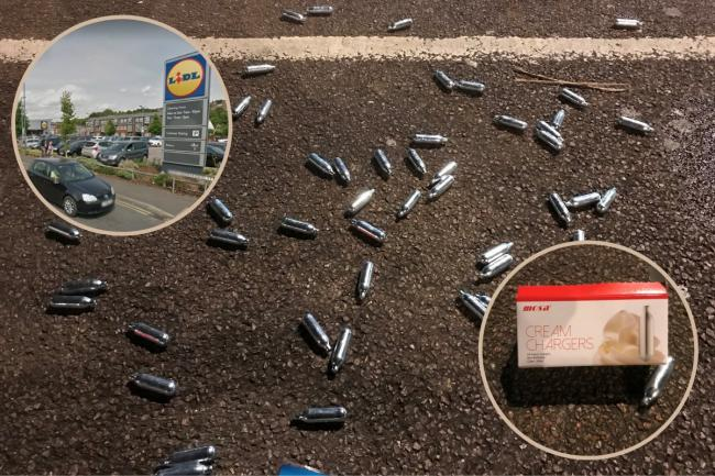 Demands for Wycombe MP to call for ban of 'Hippy Crack' after hundreds of canisters discarded in Lidl carpark