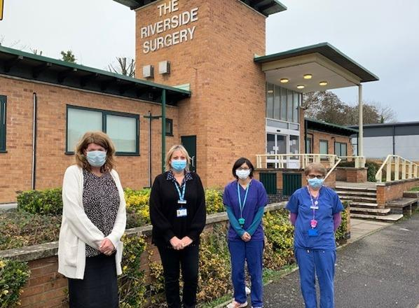 Members of staff at the Riverside Surgery