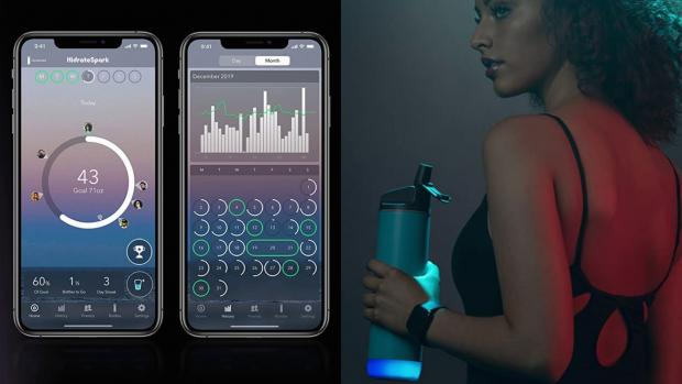 Bucks Free Press: The Hidrate Spark smart water bottle reminds you when it's time to drink more. Credit: Hidrate Spark
