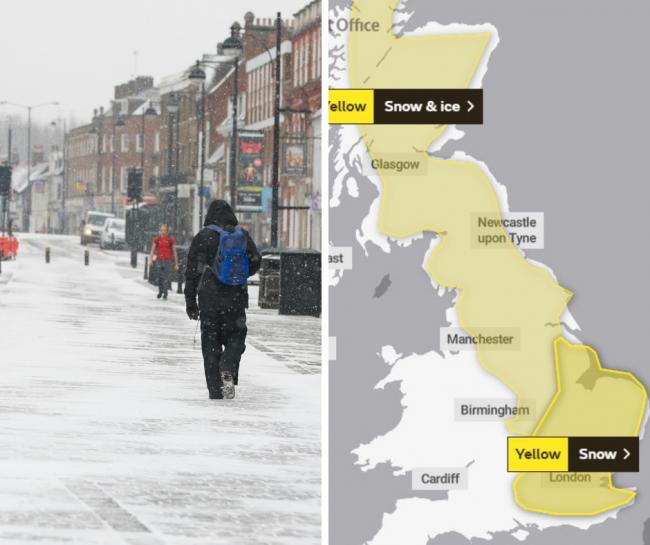 Met Office predicts 'band of heavy snow' in Bucks tomorrow