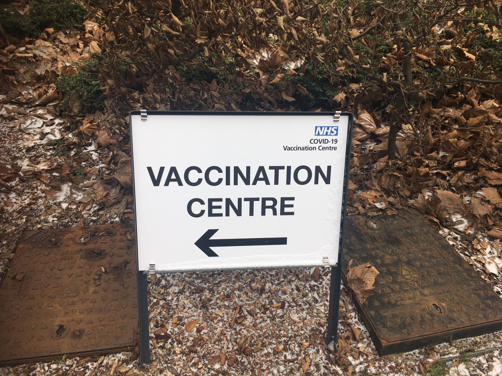 The vaccination centre at Aylesburys BNU campus opened on Feb 8