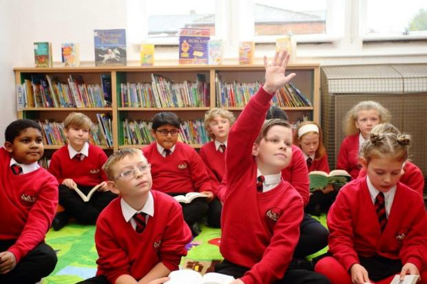 Bucks Free Press: Year 6 in the newly decorated school library
