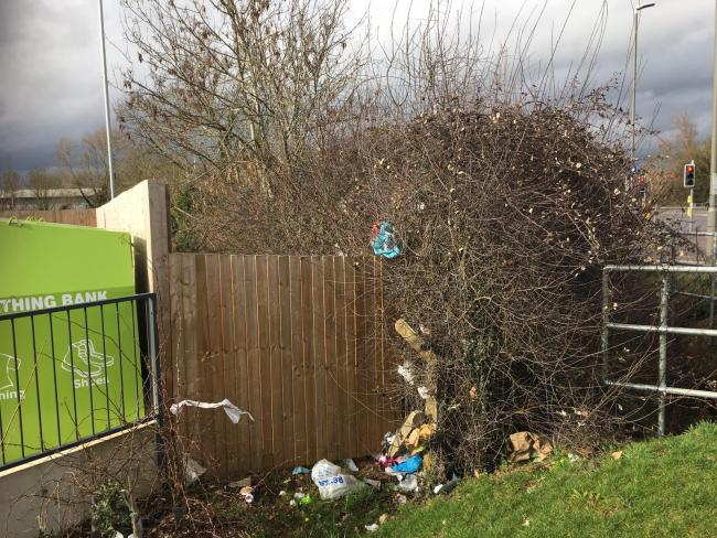 The litter has appeared near one of the Lidl supermarkets in Aylesbury