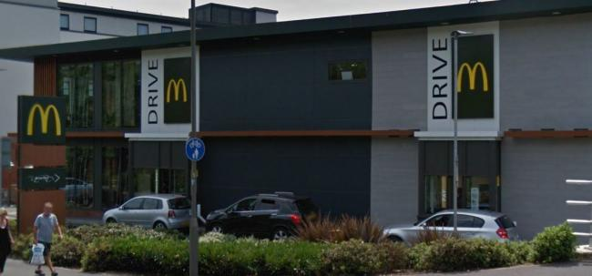 The McDonald's Drive-Thru in Dovecot, High  Wycombe